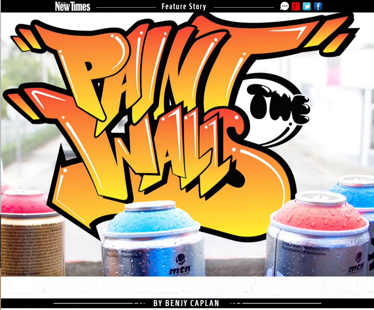 Miami New Times Magazine Feature • Krave Art