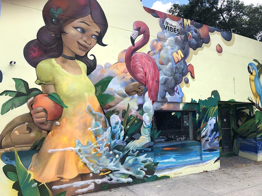 Trident sponsored mural by Daniel Fila Krave in Wynwood