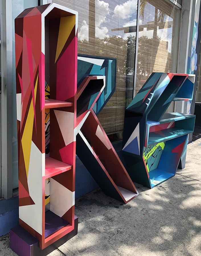 Krave Art sculpture custom shelves