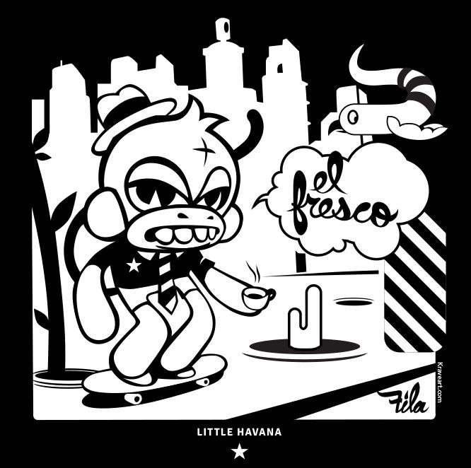 ad c aign suenalo gmcvb krave krave art LP- album el mono fresco aka the fresh monkey by daniel fila