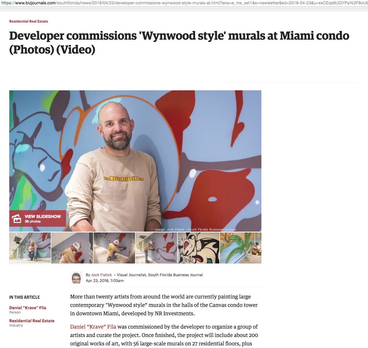Developer commissions 'Wynwood style' murals at Miami condo