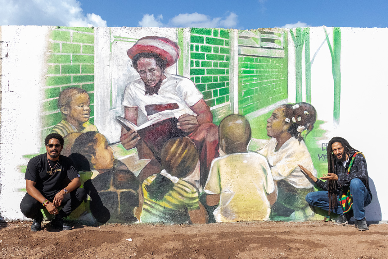 Cornerstone Educational Center TrenchTown Jamaica Ghetto Youth Foundation Stephen Marley by Claudio Picasso and Daniel Fila Krave
